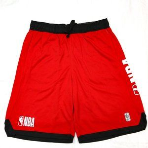 NBA Basketball Shorts Red Black Baggy Practice